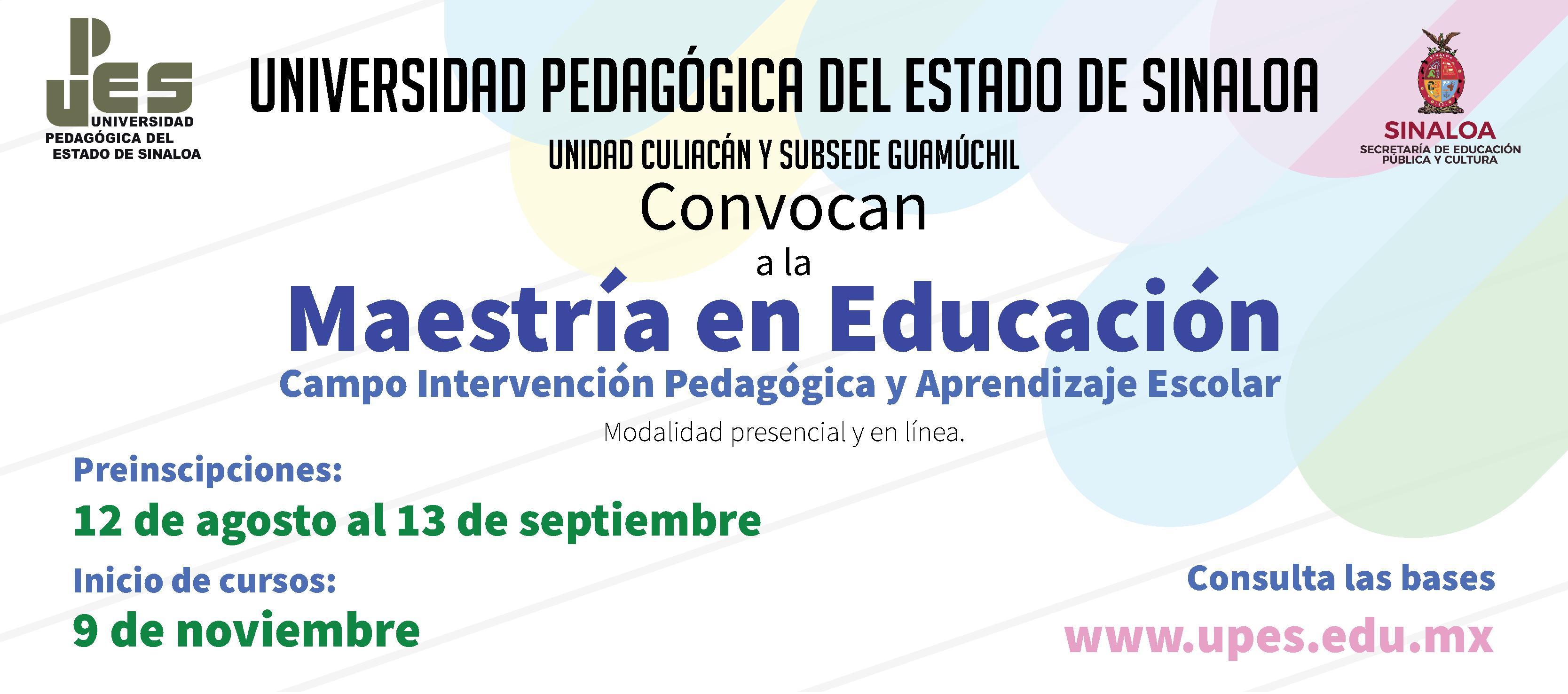 convocatoria-MAESTRIA-EN-Educacion-Campo-Intervencion-Pedagogica-y-Aprendizaje-Escolar-slider